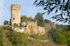 Romantic ruin in the village Dobronice. Czech republic Stock Photography