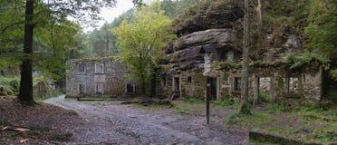 Romantic ruine of Dolsky mlyn in Ceskosaske Svycarsko national park Royalty Free Stock Photo