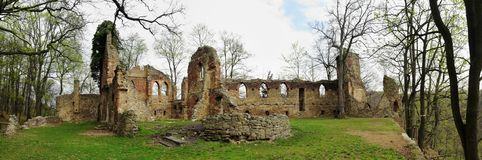 Romantic ruine Old Ksiaz in Walbrzych in Lower Silesian Voivodeship, Poland Royalty Free Stock Photography