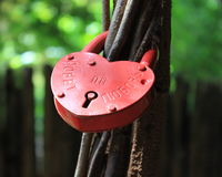 Romantic russian love lock. Royalty Free Stock Images