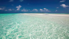 Romantic sandy beach with amazing lagoon in Maldives stock video