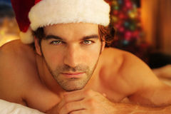 Romantic santa stock images