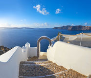 Romantic Santorini island, arch in Oia village, Santorini island Stock Photography