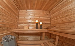 Romantic sauna Royalty Free Stock Photo