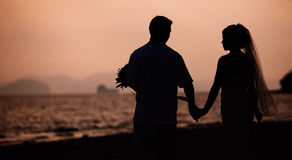 Romantic scene of love couples Royalty Free Stock Photos