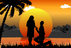 Romantic scene Stock Image