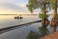 Romantic scene at sunset royalty free stock image
