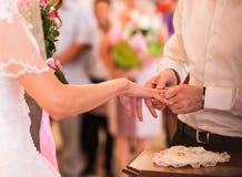 Romantic scene from weeding celebration Stock Image