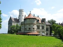 The romantic schloss of Lichtenstein Royalty Free Stock Photos