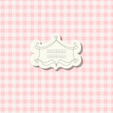Romantic scrap booking template for invitation, greeting, baby shower card, happy birthday label, postcard frame or Stock Image