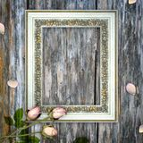 Romantic scrapbook background with frame Royalty Free Stock Image
