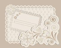 Romantic scrapbooking for invitation Stock Photography