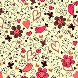 Romantic seamless background Stock Image
