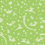 Seamless pattern with birds, flowers and hearts Royalty Free Stock Photo