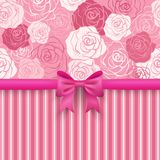 Romantic  seamless background. Greeting card Royalty Free Stock Photos