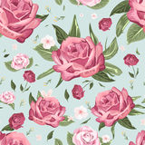 Romantic seamless floral pattern Stock Photo