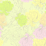Romantic seamless pattern. Universal template for greeting card, web page, background Royalty Free Stock Images