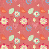 Romantic seamless pattern Stock Photos