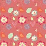 Romantic seamless pattern. Seamless ornament a blossoming garden Stock Photos