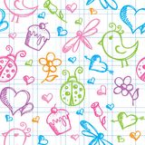 Romantic seamless pattern Royalty Free Stock Photos