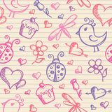 Romantic seamless pattern Stock Photo
