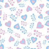 Romantic seamless pattern Stock Photography