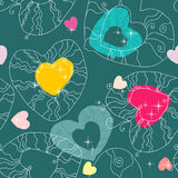 Romantic seamless pattern in  Stock Photography