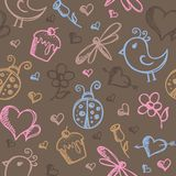 Romantic seamless pattern Stock Image