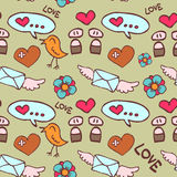 Romantic seamless pattern Royalty Free Stock Photography