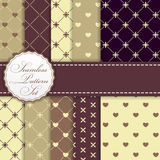 Romantic Seamless Pattern Background Set Vector Stock Photo