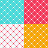 Romantic Seamless Pattern Background Vector Illustration Royalty Free Stock Image