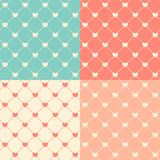 Romantic Seamless Pattern Background Vector Illustration Royalty Free Stock Photography