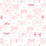 Romantic seamless pattern. Cute background Royalty Free Stock Photos
