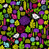Romantic seamless pattern with cute flowers and Royalty Free Stock Photography