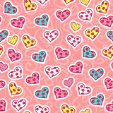 Romantic seamless pattern with hearts. Romantic seamless pattern with cute hearts stock illustration