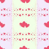 Romantic seamless pattern with different size hearts Royalty Free Stock Photography
