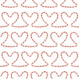 Romantic seamless pattern. Endless ornament with red hearts on white backdrop. Valentines day or wedding background for fabric, wrapping, packaging paper Royalty Free Stock Photo