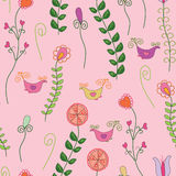 Romantic seamless pattern with flowers Royalty Free Stock Photography
