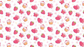 Romantic seamless pattern Stock Images