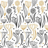 Romantic seamless pattern Royalty Free Stock Image