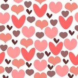 Romantic seamless pattern Stock Image