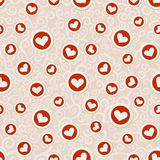Romantic seamless pattern with hearts Royalty Free Stock Photos