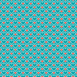 Romantic seamless pattern with hearts. Beautiful Stock Photo