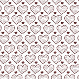 Romantic seamless pattern with hearts Royalty Free Stock Images