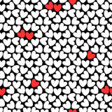 Romantic seamless pattern with hearts Royalty Free Stock Image