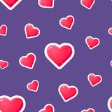 Romantic Seamless Pattern with Hearts, Design Element Can Be Used for Fabric, Wallpaper, Packaging Vector Illustration. Romantic Seamless Pattern with Hearts royalty free illustration