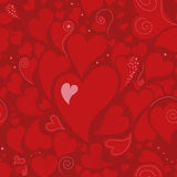 Romantic seamless pattern with hearts Stock Image