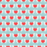 Romantic seamless pattern with hearts. Vector illustration. Background. Royalty Free Stock Image