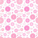 Romantic seamless pattern.  illustration Royalty Free Stock Photo