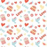 Romantic seamless pattern Royalty Free Stock Photos